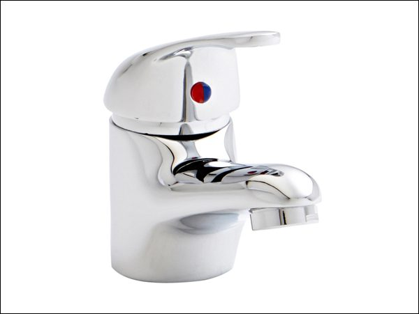 An image of a silver basin mixer tap
