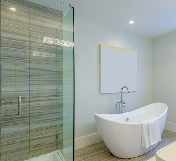 An image showing a modern bathroom installed by EGP Plumbers in Market Harborough