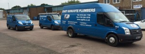 An image of the vans used by EGP Plumbers