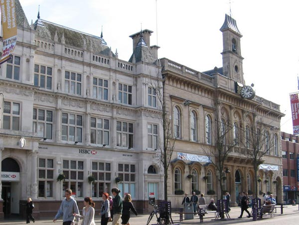 An image of Loughborough town, an area that EGP Plumbers service.