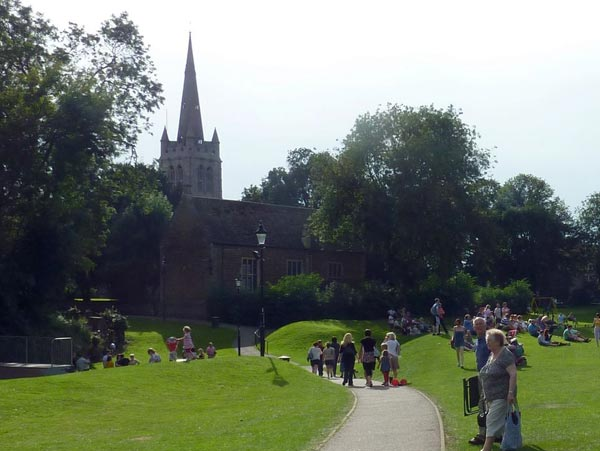 An image of a the town of Oakham
