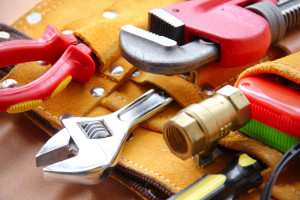 An image showing a variety of Plumbing tools used for boiler installations in Leicester