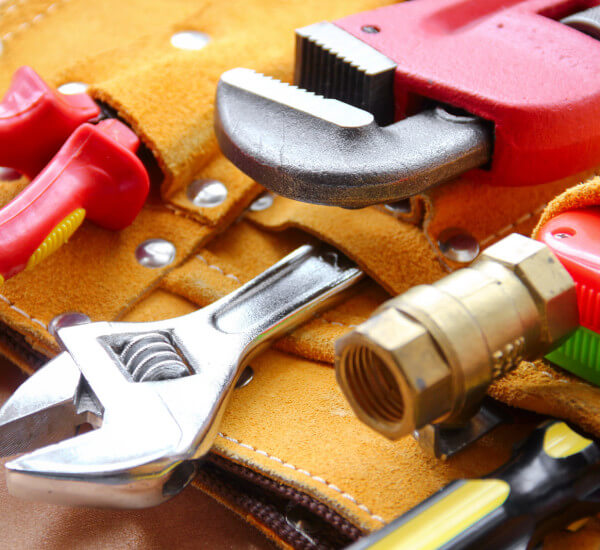 a variety of Plumbing tools used for boiler installations