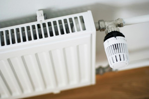 An image showing a radiator with thermostatic valve