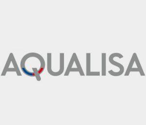 An image displaying the AQUALISA logo for EGP Plumbers