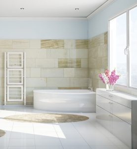 An image showing a bright bathroom installed by EGP bathroom fitters in Oakham