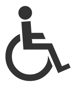 An image of a disabled man logo