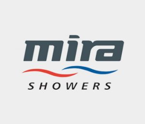 An image of the Mira Showers logo, showing that these showers are fitted by EGP Plumbers