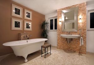 An image of a new luxury bathroom which has been fitted by EGP Plumbers