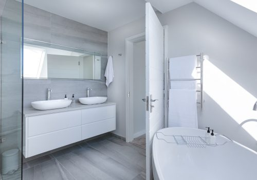 An image of a contemporary bathroom design.